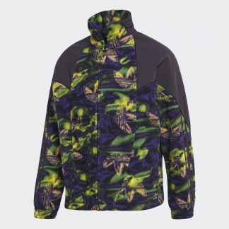 Big Trefoil Printed Polar Fleece Track Top tarjous